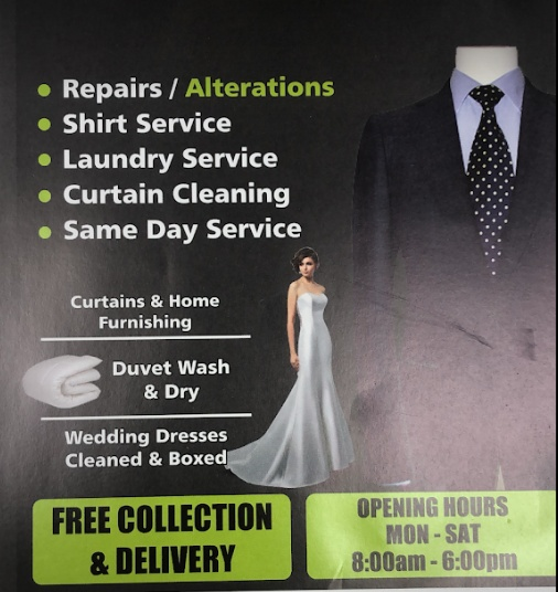 Spotless dry cleaning and alterations business
