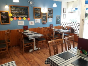 Freehold café with living accommodation, seaside location on Isle of Wight